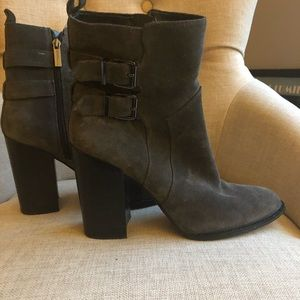 BCBGeneration Grey Suede Heeled Booties
